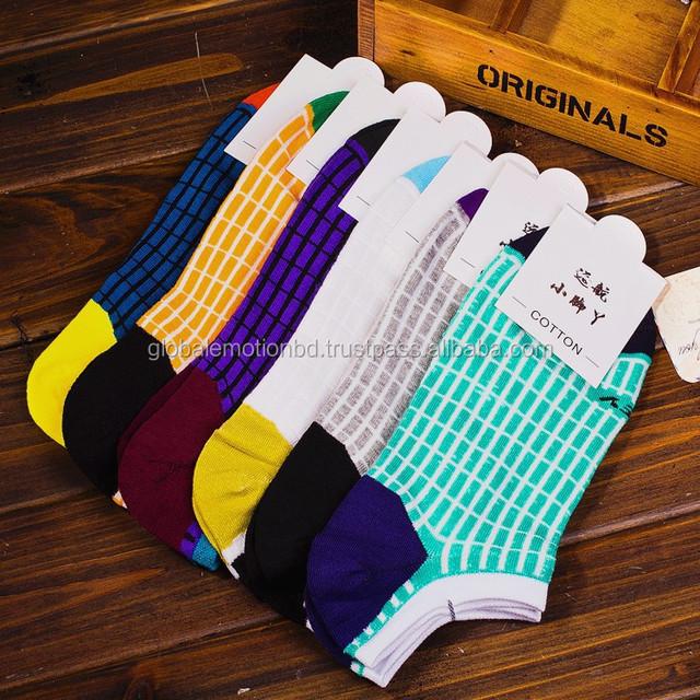 custom design ankle socks, good quality patterened socks