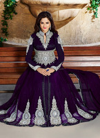 Wedding wear hand work stone anarkali suits-designer long wholesale anarkali suits