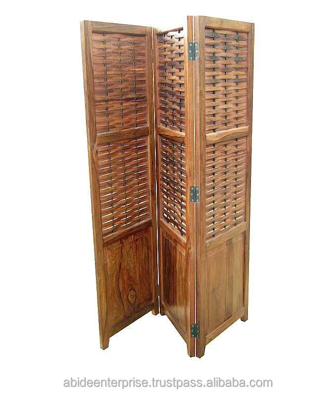 Room Divider Screen Recyled Wood Painted Screen