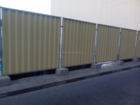 Corrugated Fencing panels / Trapezoidal sheet Fencing panels + 971 56 5478106 Dubai Fencing panels Abu Dhabi UAE Ajman/Sharjah