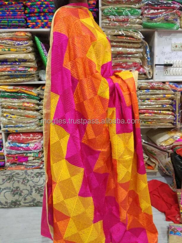 Phulkari dupatta for beautiful hand embroidery