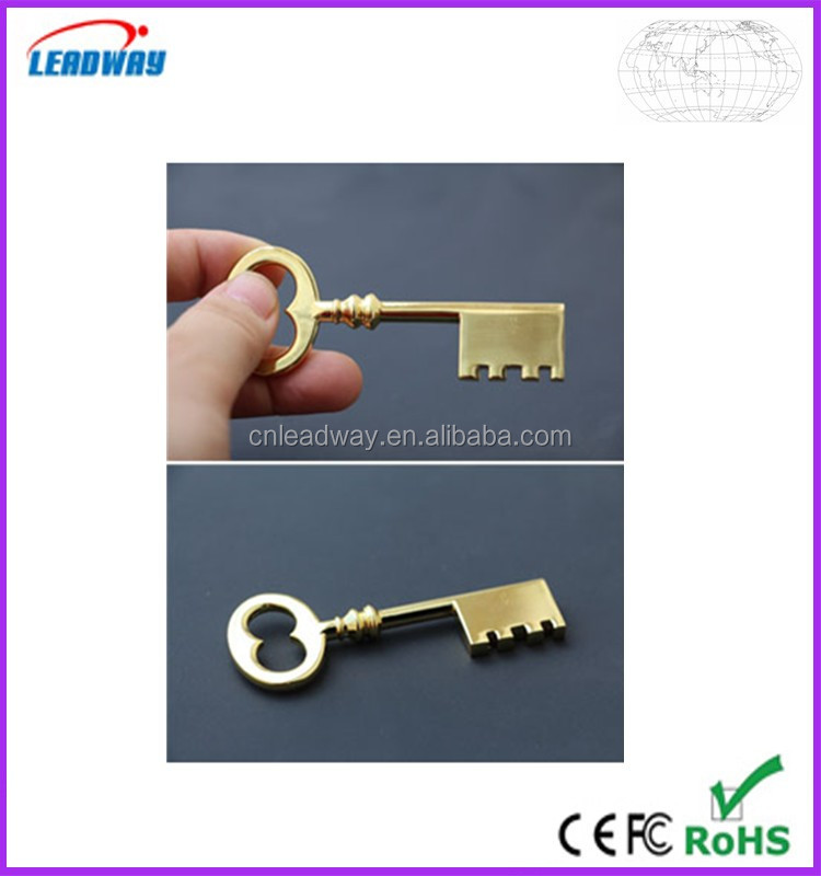 2016 new product silver color gold color usb flash drive key shape