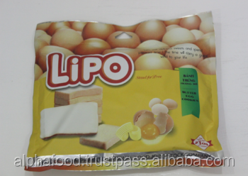 Lipo biscuit butter flavors pack in bag 230g - Delicious baked cookie from Vietnam