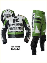 Pakistan Produce White Color kawasaki racing suit