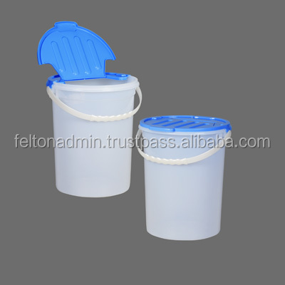 Round Storage Bin with flip cover