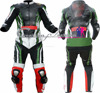CFLMSM-1138 Green Leather motorbike racing Suit 1600