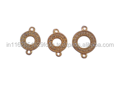 Gold Plated Brass Custom CZ Charm Making for Bracelet Necklace Jewelry Wholesale
