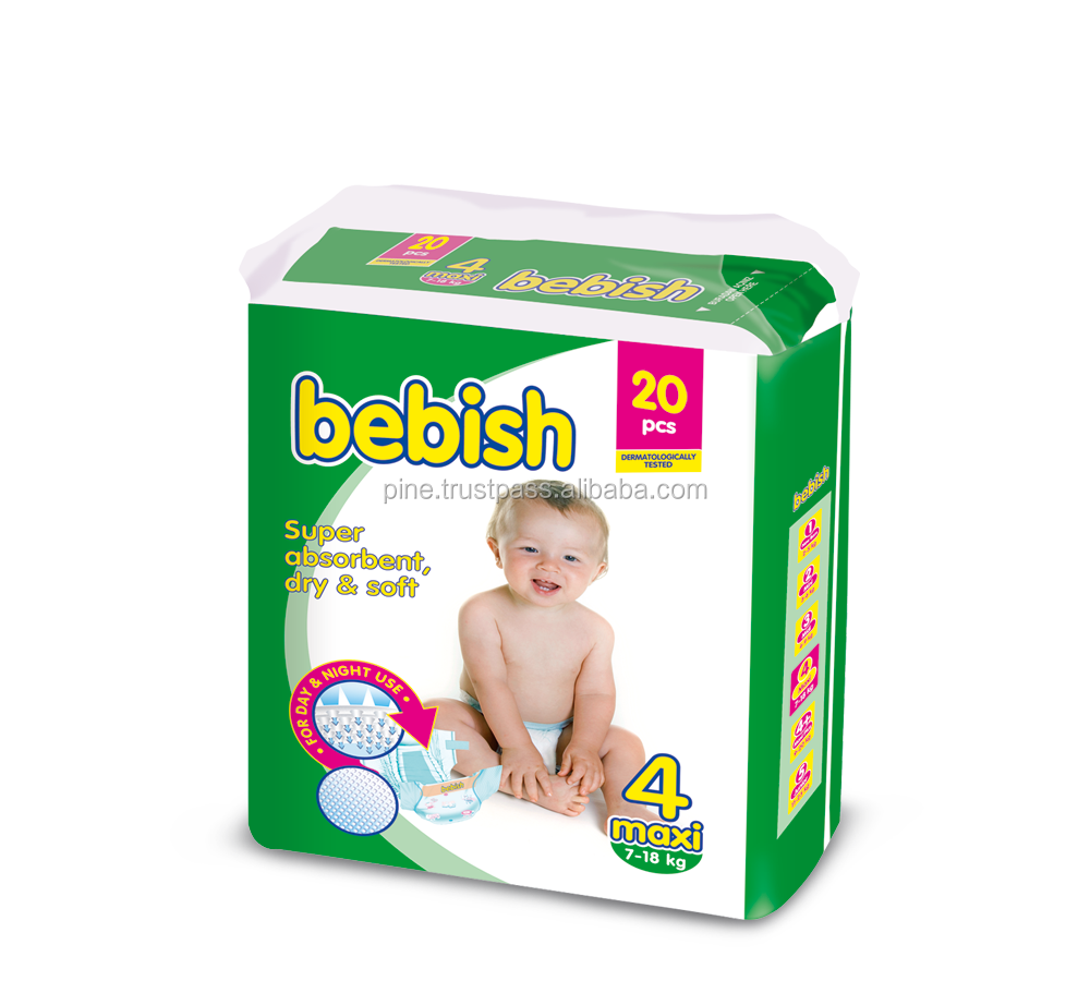 Honey Bebish Baby Diaper 7-18kg 20pcs/pk