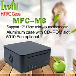 Factory Price Aluminum mini itx desktop computer for HTPC home Office