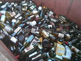 Waste Glass Bottle for Export