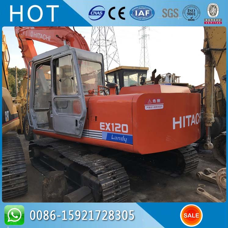Hitachi Used Excavator 12 Ton Import From Japan Origin , Isuzu Engine EX120 ZX120