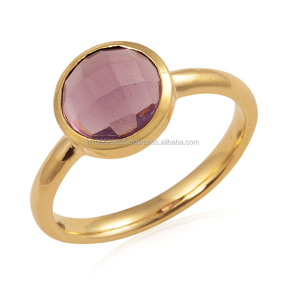 14k Gold Amethyst Gold Ring Jewelry