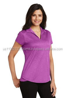 NEW Port Authority Ladies Trace Heather Polo. L576.