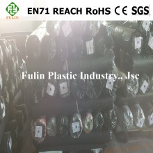 PVC artificial leather for sofa stocklot, pvc synthetic leather for furniture and bag stock lot