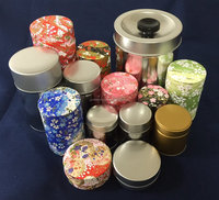 High quality round tin can box with internal lid made in Japan, small lot available