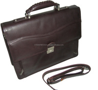 Leather briefcase type office bags for men