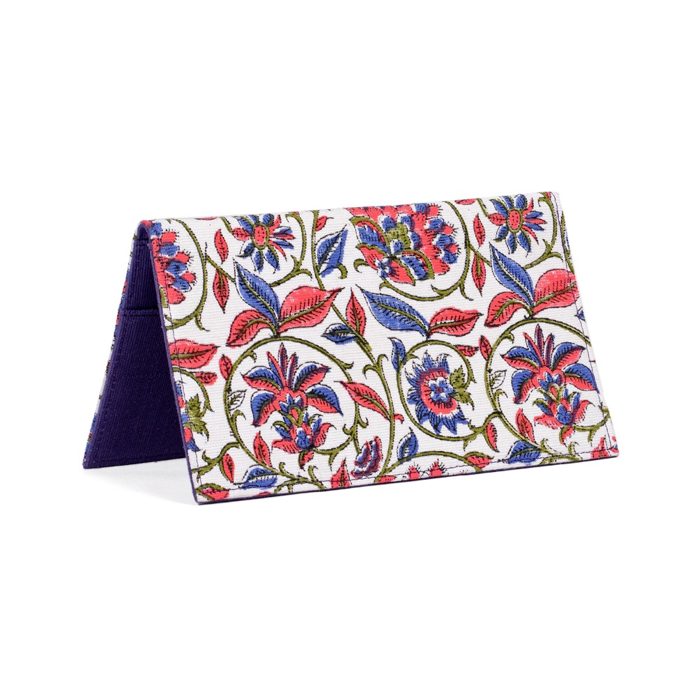 Floral Printed Cotton Passport Wallet