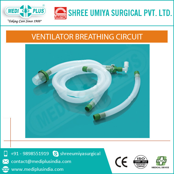 Adult disposable ventilator breathing circuit