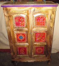 Indian Hand Painted Small Wooden Almirah