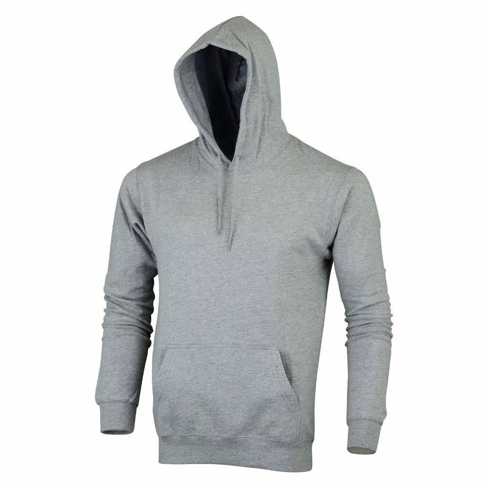 Grey Hoodies for men/women, New Styles 2016 with customized logo Cotton Rich Fleece