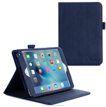 Dual View Slim Fit PU Premium Leather Folio, Smart Cover Auto Sleep/Wake; manicotto interno per iPad Mini 4 roocase (navy)