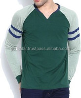 Most boy top requirement classy green color Best cotton made latest design base branded full sleeve t shirts in bulk and cheap
