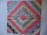 Wholesale indian Quilted Pillow Faces Two Hand Made Quilted Pillow Covers Pink Floral Pillow Unfinished quilt cover set