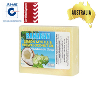 Excellent-Quality BANABAN Aust LEMON MYRTLE Soap 100% natural coconut oil