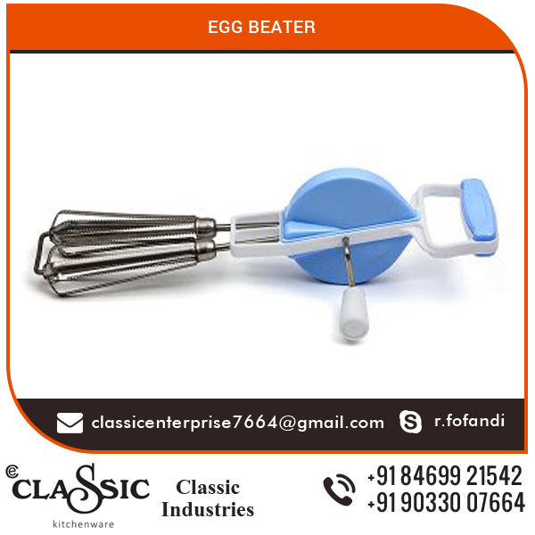 Endurance Stainless Steel Hand Crank Manual Rotary Egg Beater with Handle