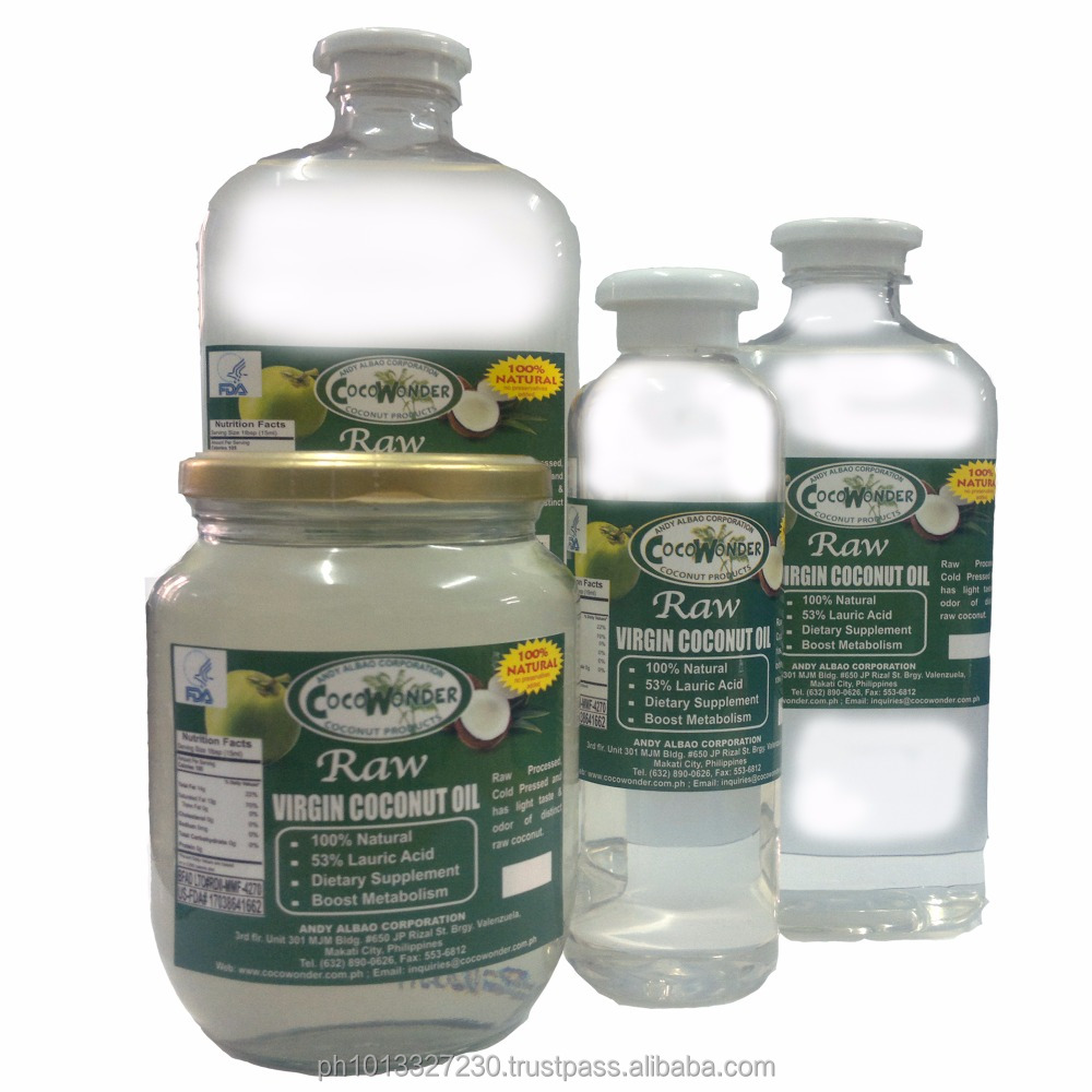 1 liter - RAW VIRGIN COCONUT OIL - has airtigh cap seal & leak free, Centrifuged, Cold Pressed, Wet Process from Coconut Milk
