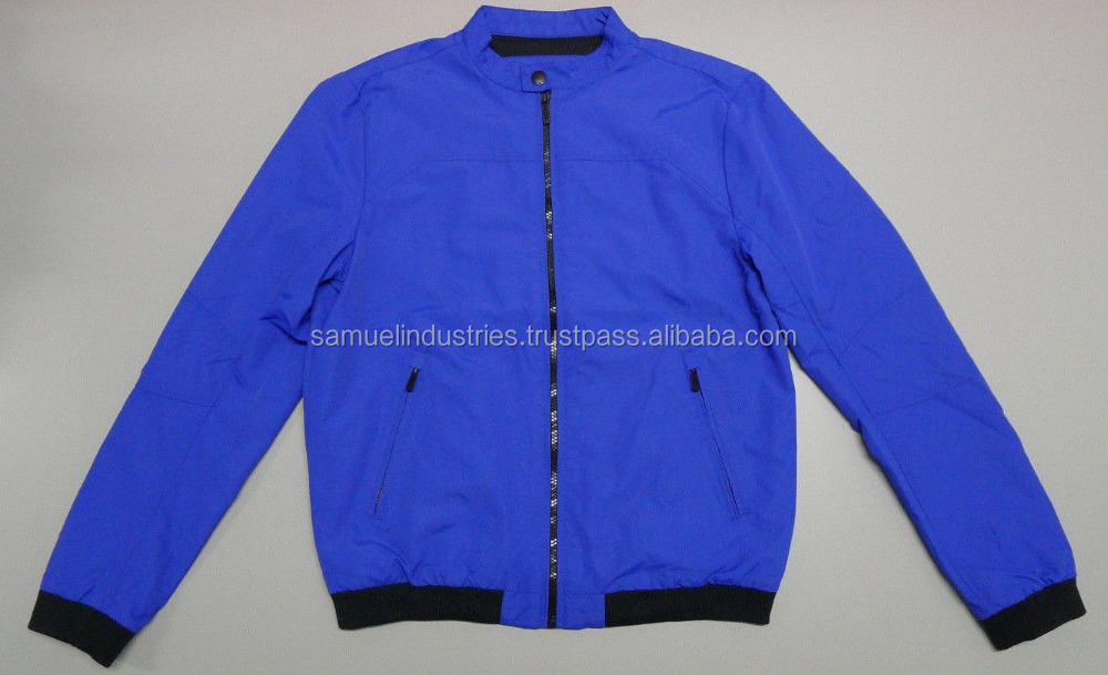 Comfy down jacket\100% polyester cotton blue jacket \Men\woman PU and knitted fabric nylon\bomber jacket
