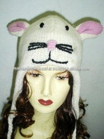 Rabbit Face Knitted Winter Cap