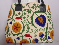 Handbag Indian TOTE SHOULDER BAG Trible Vintage suzani embroidery women ethnic hand made bags