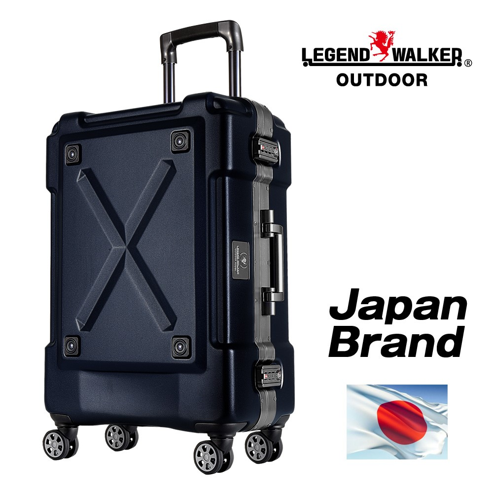 Fashionable suit case and TSA combination lock Aluminum/Stainless frame suitcase with D-shaped hook glides