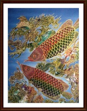 "Wholesale Indonesian Batik Painting Art Home Decoration ""Animal Series"" 70*90 Cm"