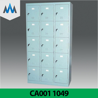 Hot Sale Cheap Storage Portable Locker/ 5 Tiers 15 Doors Steel Metal Colorful Sports Clothes Changing Room Personal Cabinet