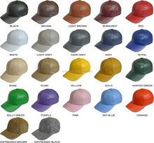 Fashion Women Men Baseball Leather Caps