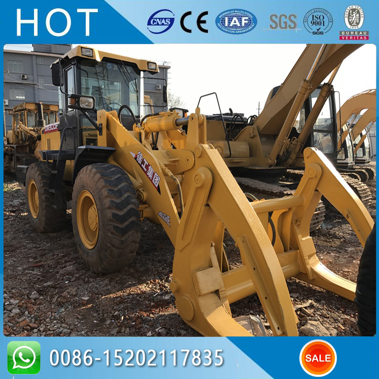 CHINA XCMG LW300F 3 TON USED WHEEL LOADER WITH LOG GRAB