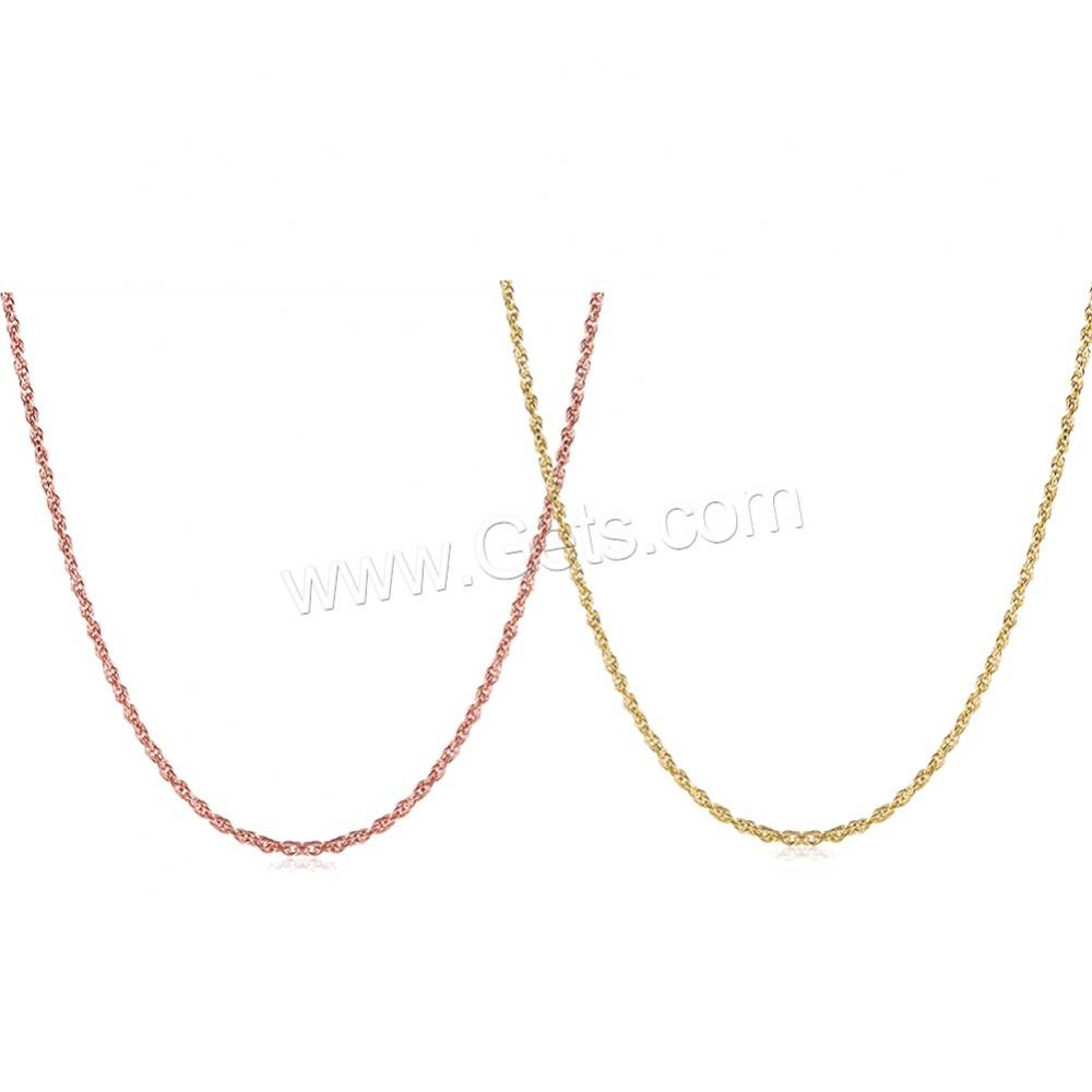 925 Sterling Silver Jewelry Wholesale rose gold plated chain necklace 1140668
