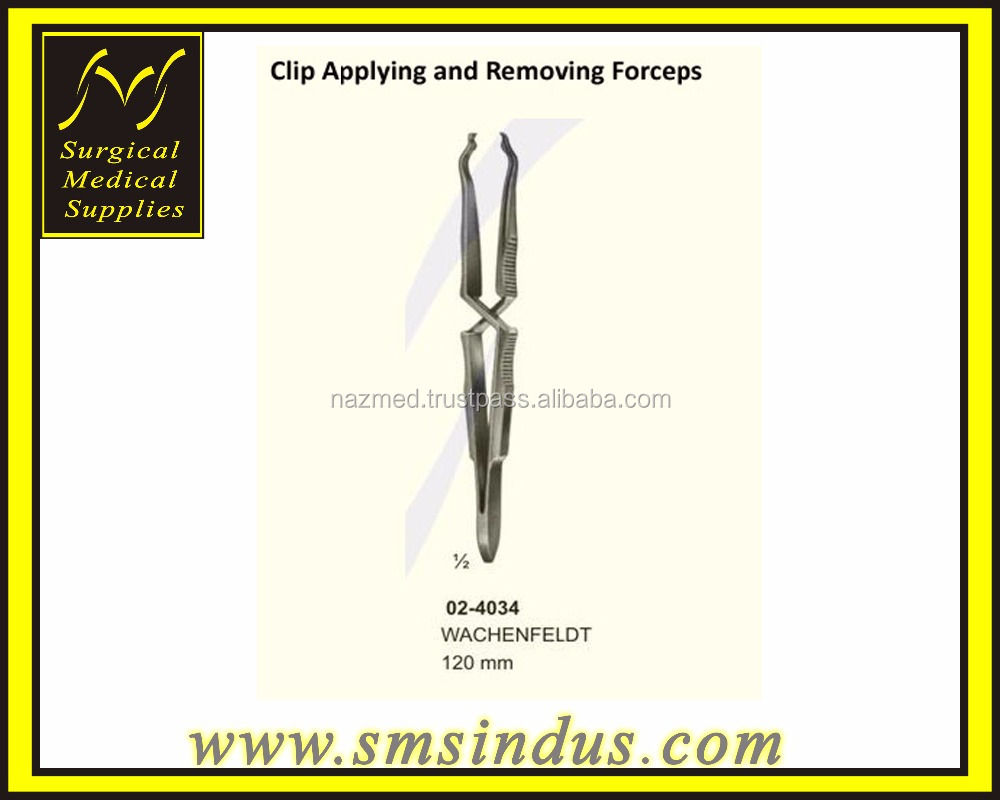Wachenfeldt Clip Applying and Removing Forceps