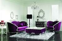 European style classic luxury sofa set is used solid wood, fabric and high density sponge for the living room