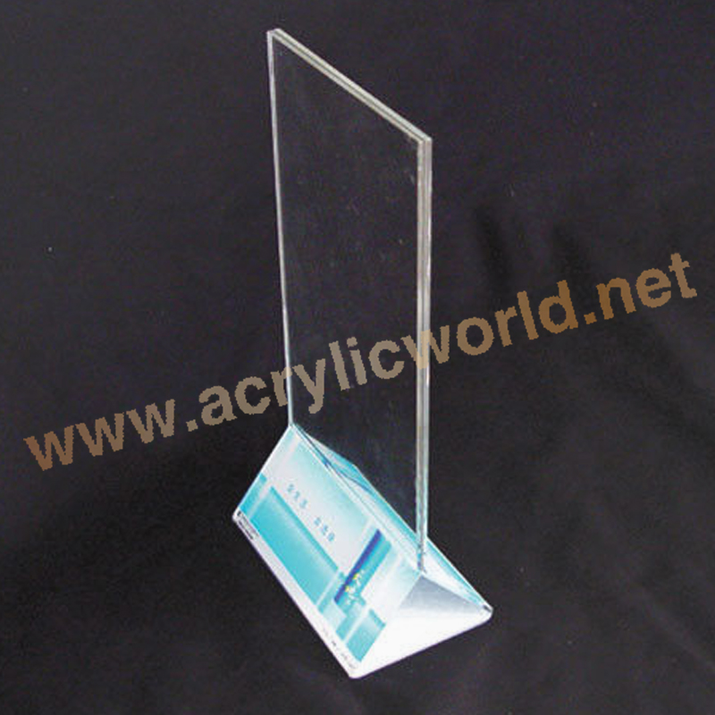 plastic menu holder stand/acrylic sign holder for bar