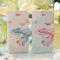 Cute Ribbon Point dairy style cell phone case / cute mobile phone cover/cartoon mobile phone cover