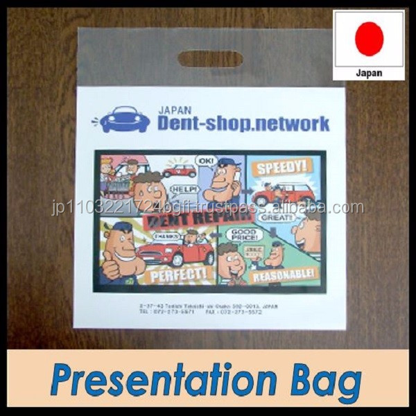 Transparent high-strength advertisement shopping bag made in Japan