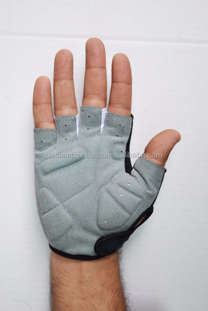 Sports Cycling Bicycle Fingerless Gloves Half Finger Silica Gel