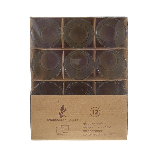 12 pcs Glass Container in Brown Box