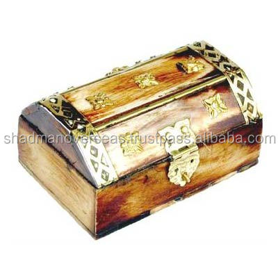 Antique Bone Jewelry Box with Metal work on Top SOJB-165