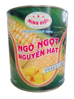 Canned sweet corn in 3100ml tins