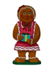 Ginger bread girl with gift