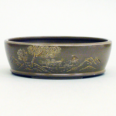 Bonsai Pot , Silver Craft , Japanese traditional work